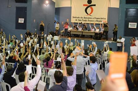 Bancários aprovam greve por tempo indeterminado - Foto: Seeb São Paulo