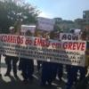 Funcionários dos correios fazem mais uma manifestação na manhã desta sexta-feira, dia 22 - Foto: Williana Lascaleia