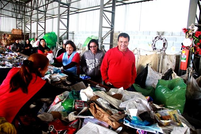 Fernando Fernandes visitou a CooperZagati que recolhe aproximadamente 200 toneladas de material reciclável em mais de 40 pontos de coleta - Foto – Ricardo Vaz