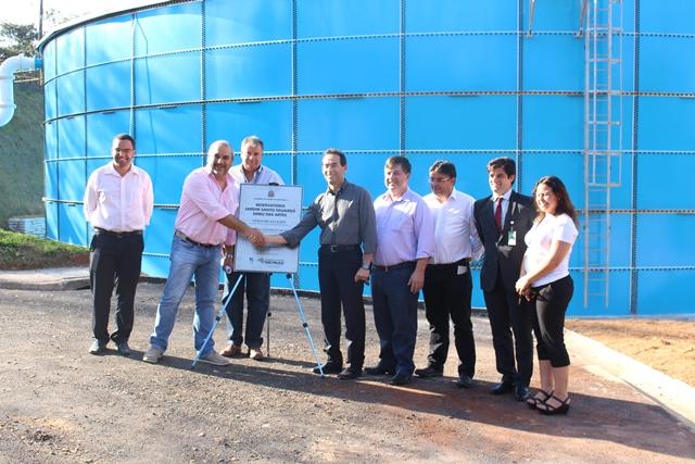 Prefeitura e Sabesp pretender acabar com problema de falta de água na região do Jardim Santo Eduardo com caixa d'água gigante - Foto: Williana Lascaleia