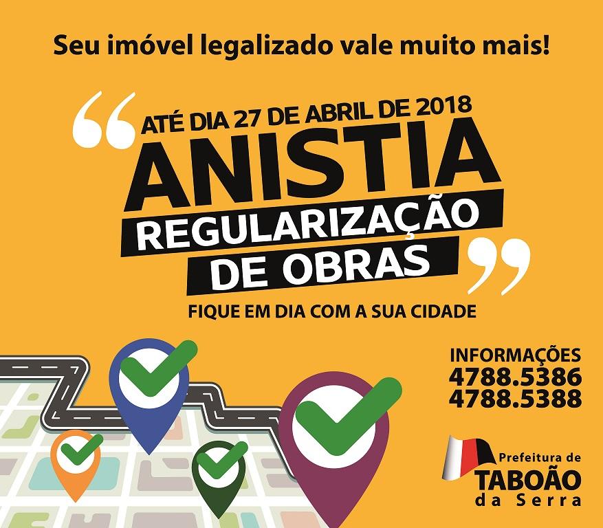 ANUNCIO CORRETO ANISTIA OBRAS
