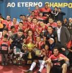 Foto 01 - Bordon goleia Força Jovem e é campeão da 18ª Copa CSU de Futsal
