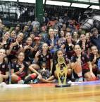 Foto 01 - Futsal feminino taboanense foi tricampeão dos Jogos Regionais em Santo André