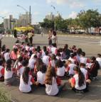 Foto 01 - Projeto da Educação leva alunos da rede municipal para conhecerem pontos históricos de Taboão